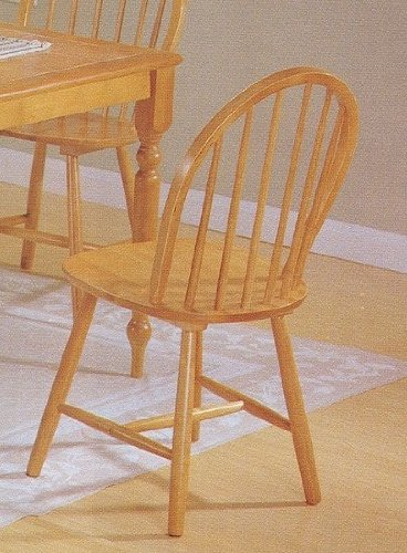 of 4 oak finish windsor country style wood dining chair chairs sale