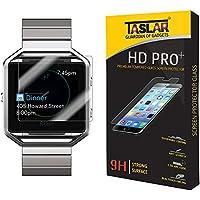 Taslar(TM) Fitbit Blaze Screen Protector Premium Arc Edge Tempered Glass Scratch Screen Protector Guard Card For...