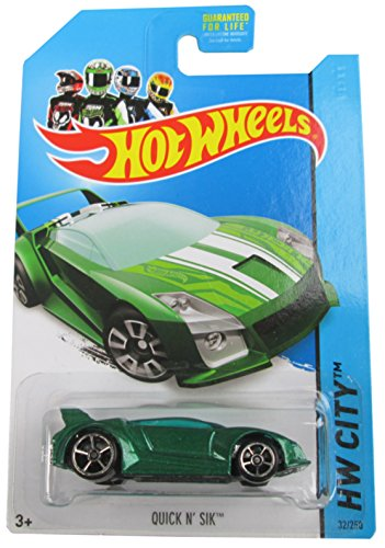 Hot Wheels 2014 Speed Team Hw City Green Quick N' Sik 32/250