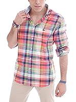 VICKERS Camisa Hombre Harvard (Coral / Multicolor)