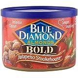 Blue Diamond Almonds, Bold Jalapeño Smokehouse, 6-Ounce Can (Pack of 6)