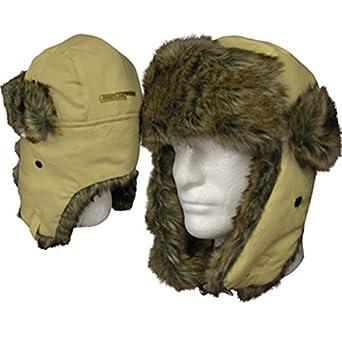 Dakota Dan Winter Trooper, Trapper, or Hunting Hat Faux Fur - Brown