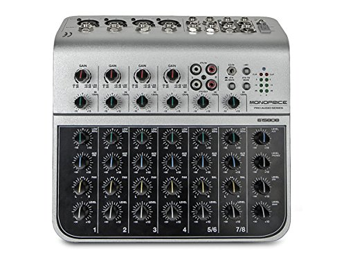 Monoprice 615808 8-Channel Audio Mixer with USB (8 Channel Stereo Line Mixer compare prices)