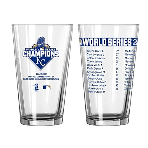 Kansas City Royals 2015 World Series Champions Official 16 oz. Roster Pint Glass
