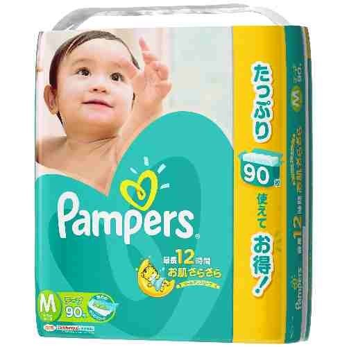 90 Sheets Care Rustle Pampers Tape M