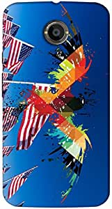 Timpax protective Armor Hard Bumper Back Case Cover. Multicolor printed on 3 Dimensional case with latest & finest graphic design art. Compatible with Motorola Moto -X-2 (2nd Gen )Design No : TDZ-26892