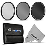 77MM Professional Photography Filter Kit (UV, Polarizer, Neutral Density ND4) for Camera Lens with 77MM Filter Thread + Filter Pouch + Premium MagicFiber Microfiber Cleaning Cloth