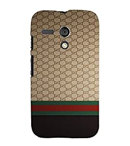 PrintVisa Luxury Brand Pattern 3D Hard Polycarbonate Designer Back Case Cover for Motorola Moto G
