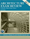 img - for Architecture Exam Review, Vol. 1: Structural Topics, 6th Edition by Steven E. O'Hara PE (2005-05-15) book / textbook / text book