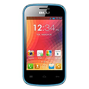 BLU Dash JR W D141w Unlocked GSM Dual-SIM Android Cell Phone - Blue