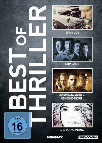 Best of Thriller: Bank Job / Cop Land / Gone Baby Gone - Kein Kinderspiel / Die Vorahnung [4 DVDs]