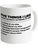 Five Things I Like - Bike Mug