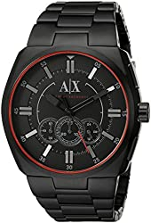 Armani Exchange Men's AX1801 Analog Display Analog Quartz Black Watch