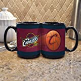 NBA Cleveland Cavaliers 15-Ounce Black Sportsball Mug (2 Pack) Amazon.com