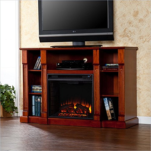 Murdock Media Electric Fireplace - Classic Mahogany