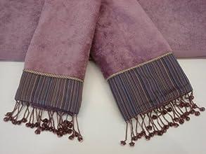 Decorative Towel 3-pc Set Silk Strie39 by Sherry Kline