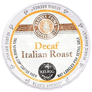 Barista Prima Coffee Italian Roast Decaf, K-Cup for Keurig Brewers