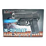 Air Sports LASER Kids Toy Air GUN With RED LASER & BLUE LIGHT Pistol M-2068AF