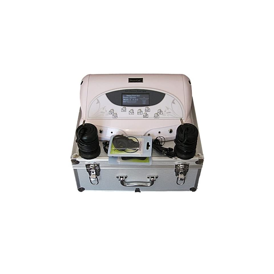 FB104C Dual Ionic Detox Foot Bath System LCD Display 5 Modes  and Carrying Case