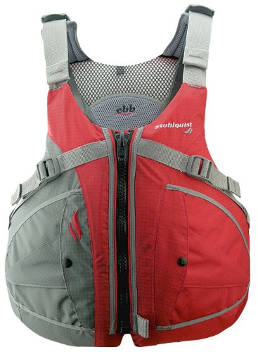 Stohlquist Men's Ebb Life Jacket/Personal Floatation Device (Red/Gray, Small/Medium)
