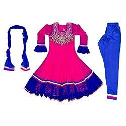 Pintoo Apparels Girls Pink Traditional Chudidar Set for 15-16 Years