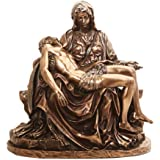 10.5 Inch Michelangelo's Pieta Jesus and Virgin Mary Statue Figurine