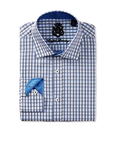English Laundry Men's Check Dress Shirt