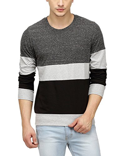 Campus-Sutra-Men-Tri-Colour-Full-Sleeve-T-Shirt