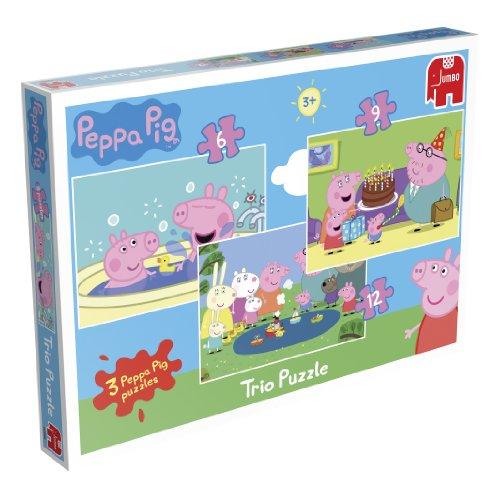 Peppa Pig Trio - 3 Jigsaw Puzzles in a Box (6,