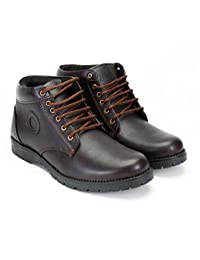 CATBIRD Men Brown Faux Leather Boots TIGER
