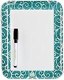 LockerLookz Locker Dry Erase Board - Blue Scroll - 1 piece