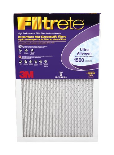 3M Filtrete 1500 MPR, 6-Pack, Ultra Allergen Reduction Filter, 16 x 25 x 1