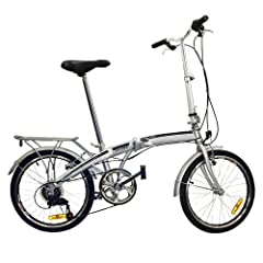 20 Folding Bicycle Shimano 6 Speed Bike Fold Storage Silver by Best Choice Products