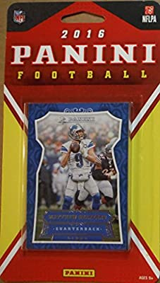 Detroit Lions 2016 Panini Factory Sealed Team Set with Matthew Stafford, Calvin Johnson, Rookie Cards and more