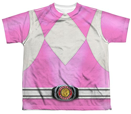 Mighty Morphin Power Rangers Pink Ranger Costume - All Over Youth Front T-Shirt