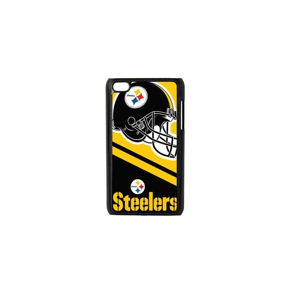 WY Supplier NFL Pittsburgh Steelers Soccer Design Printed Hard Case for Ipod touch 4th Black Color WY Supplier 146405 Cell Phones & Accessories