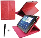 Luxury Rose Pink Crocodile Leather Case Cover Stand for Fujitsu Stylistic M532 10.1'' 10.1 Inch Android Tablet Pc + Stylus Pen