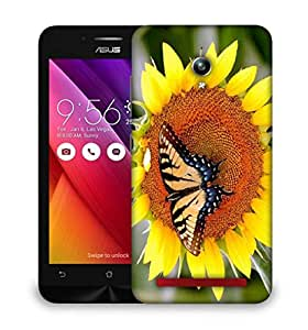 Snoogg Butterfly Seeking Honey From Sunflower Designer Protective Phone Back Case Cover For Asus Zenfone GO