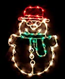 """17"""" Lighted Snowman Christmas Window Silhouette Decoration"""