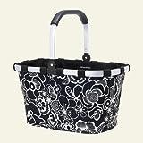 Reisenthel Market Basket, Black/White Flora