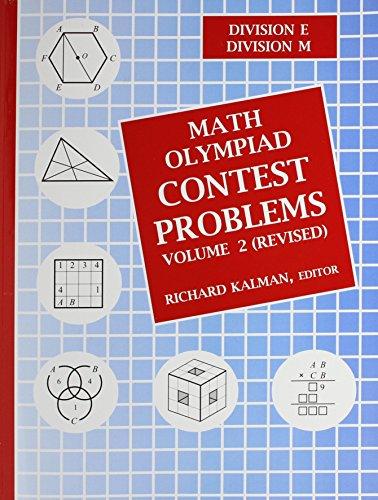 math olympiad contest problems volume 2 revised pdf