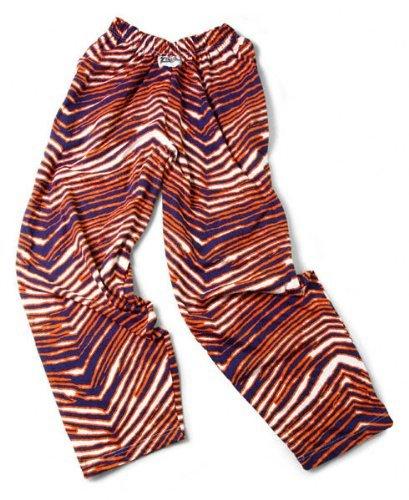 Zubaz Pants: Navy/Orange Zubaz Zebra Pants