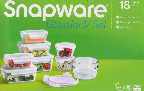 Best Buy Snapware Glasslock Glass Storage Containers with Lids 18pc