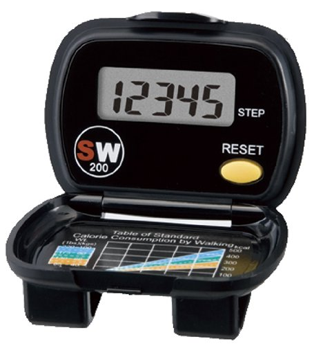 Activity Tracker Pedometer - Yamax Sw200 Digi-Walker Electronic Gold Standard Step Counter Black With Large Lcd Display Suitable for People from All Walks of Life