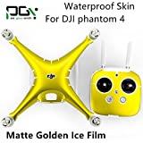 gouduoduo2018 PGY Waterproof PVC matte golden ice film Skin Decal Stickers for DJI Phantom 4 Quadcopter Shell + Controller Accessory
