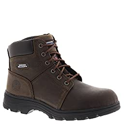 Skechers Men\'s Workshire ST Crazy Horse Dark Brown Leather 8 M