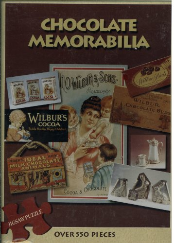 Chocolate Memorabilia 550 Piece Puzzle Featuring A Photograph Taken From The Book of Chocolate Memorabilia By Donna Baker Showing Various Wilbur Chocolate Products