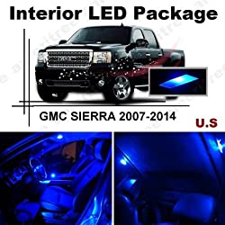 See Ameritree Blue LED Lights Interior Package + Blue LED License Plate Kit for GMC Sierra 2007-2013 (8 Pieces) Details