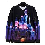 Unisex Sneak 3D Sweater Disney Castle Sweatshirt T Shirts (S)