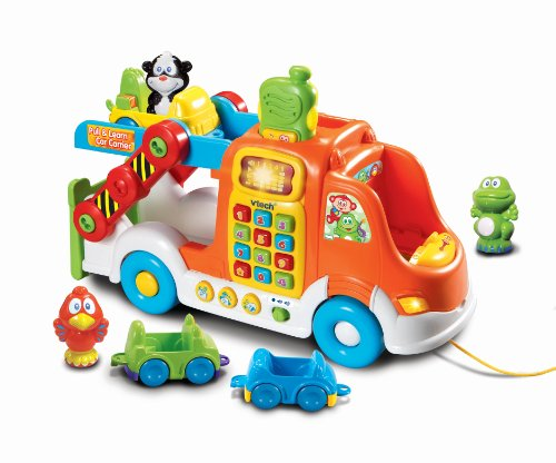 VTech Pull and Learn Car Carrier Pull Toy - 1